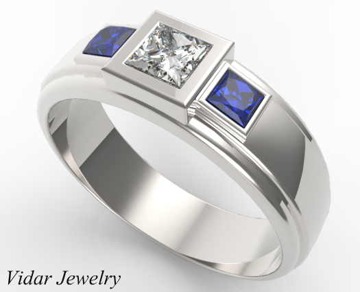 mens princess cut diamond wedding bands - Princess Cut Diamond Wedding Ring