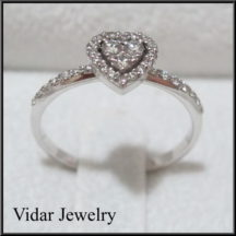 Heart diamond engagment ring