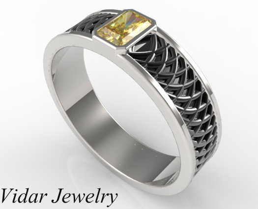 fancy yellow diamond ring fancy yellow diamond ring - Mens Unique Wedding Ring